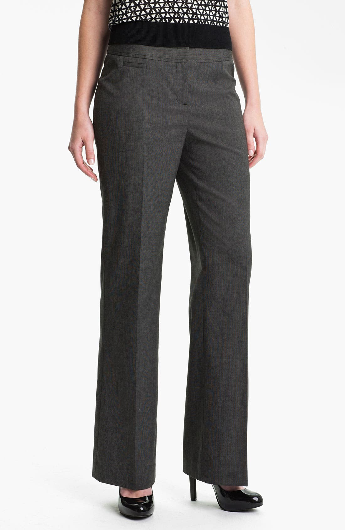 Alternate Image 1 Selected - Halogen 'Taylor - End on End' Curvy Fit Pants