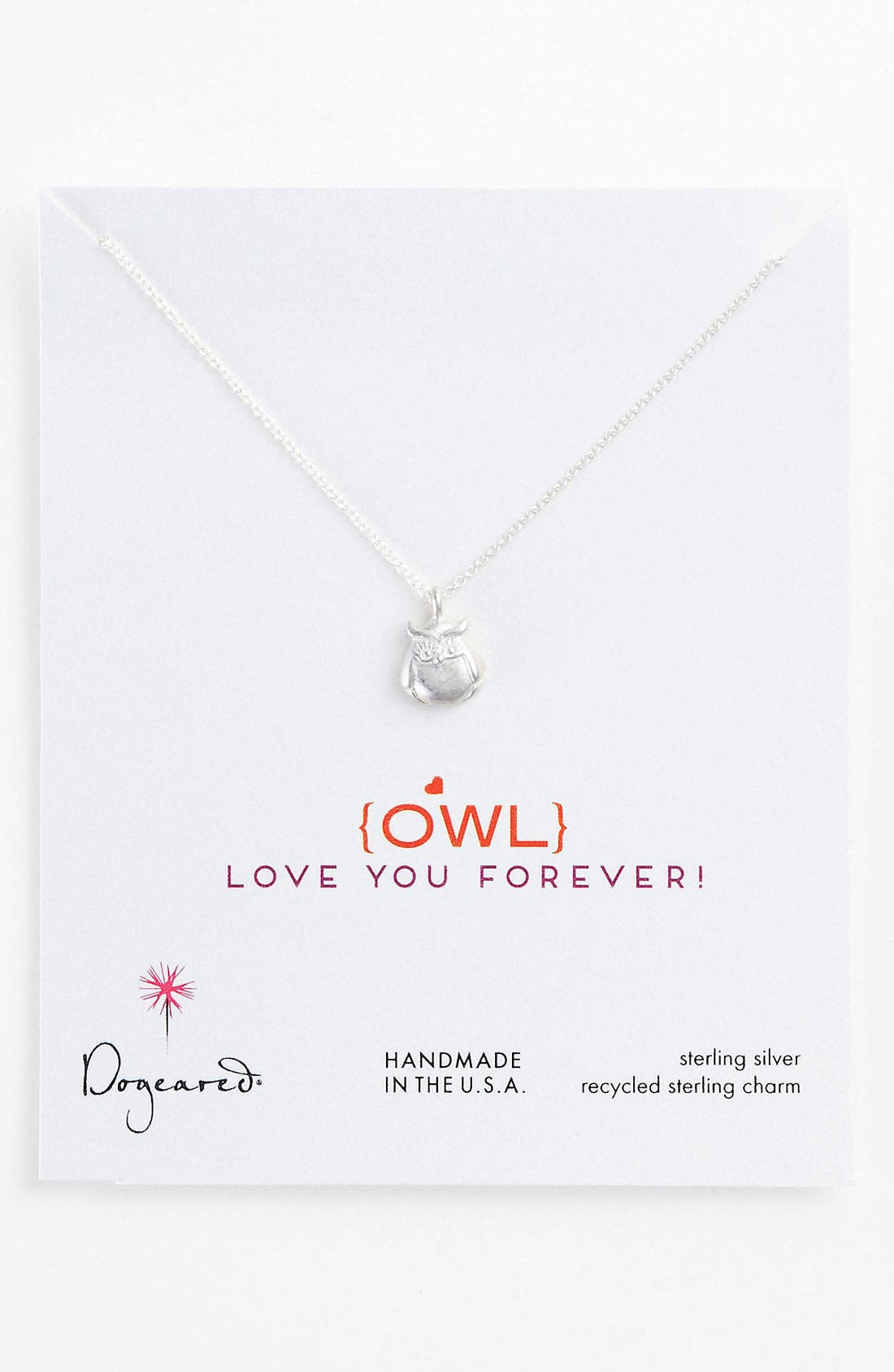 Alternate Image 1 Selected - Dogeared 'Owl Love You Forever' Pendant Necklace