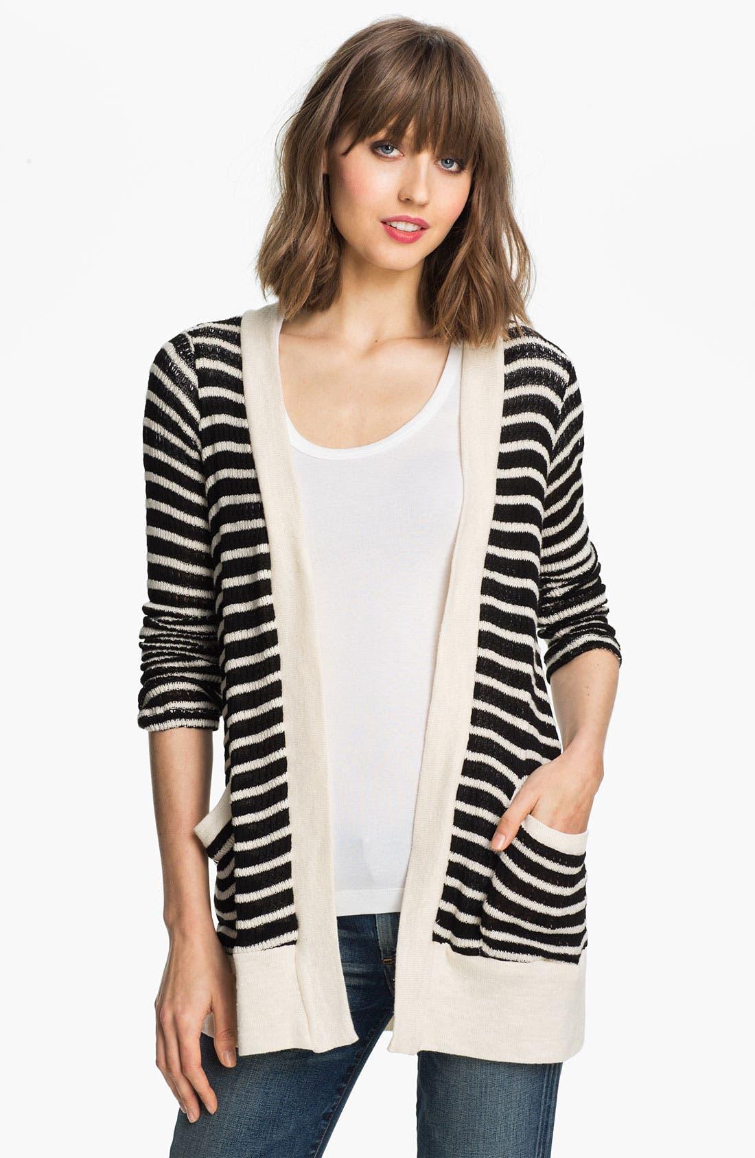 Main Image - Splendid 'Panama' Stripe Oversized Cardigan