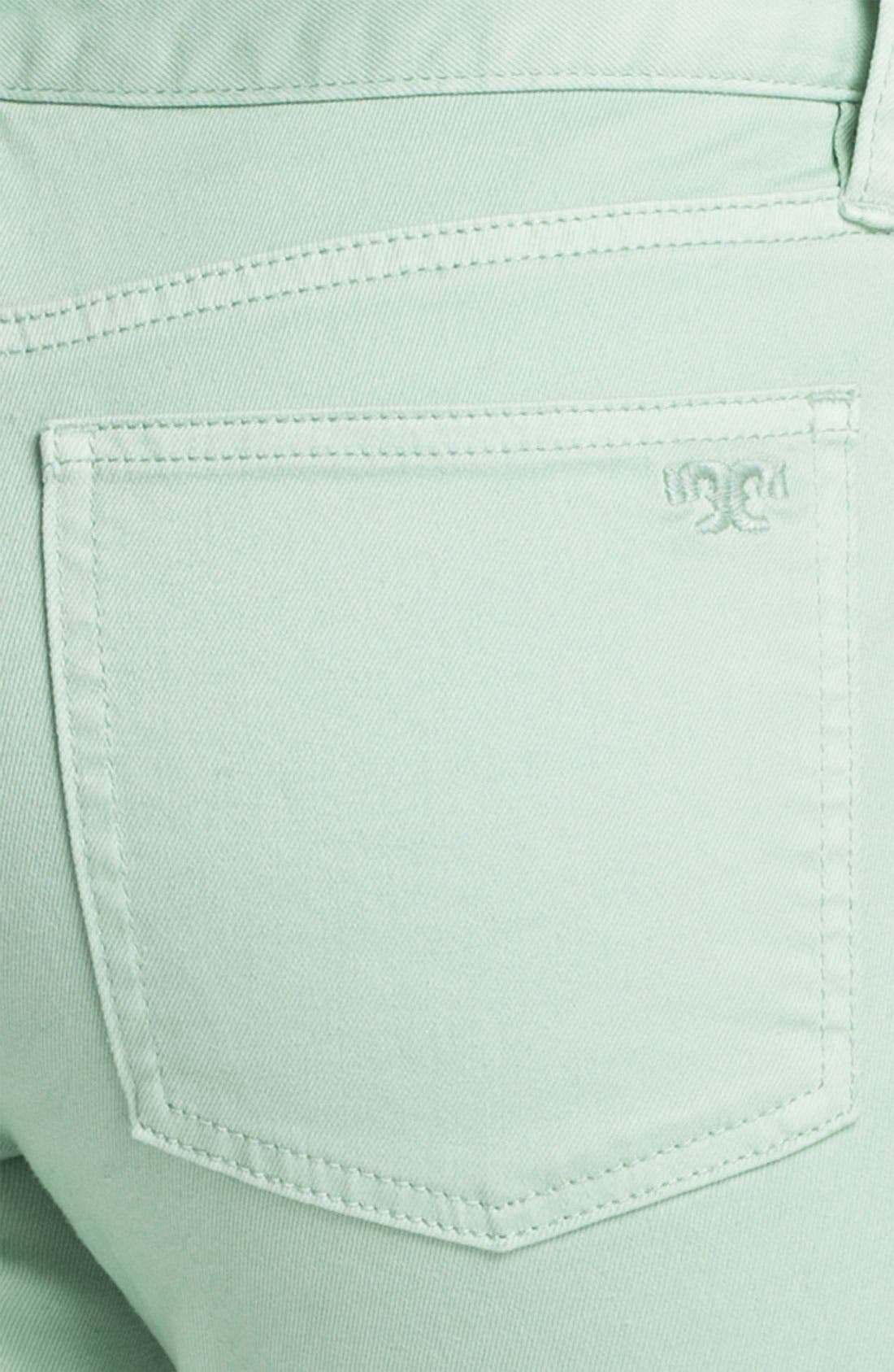 Alternate Image 3  - Tory Burch 'Alexa' Crop Skinny Stretch Jeans (Seaglass)