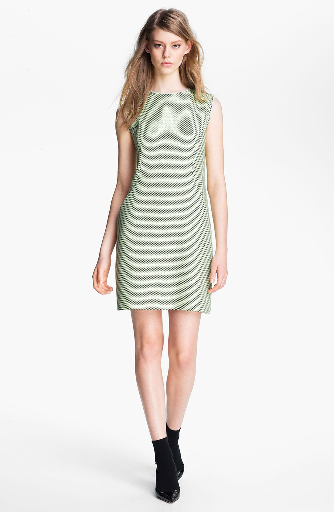 Main Image - Miss Wu Modern Weave Shift Dress (Nordstrom Exclusive)