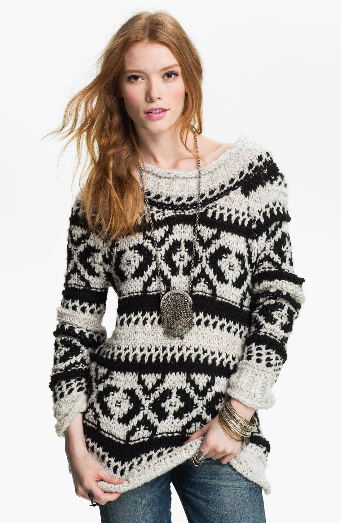 Main Image - Free People 'Silver Reed' Chunky Sweater