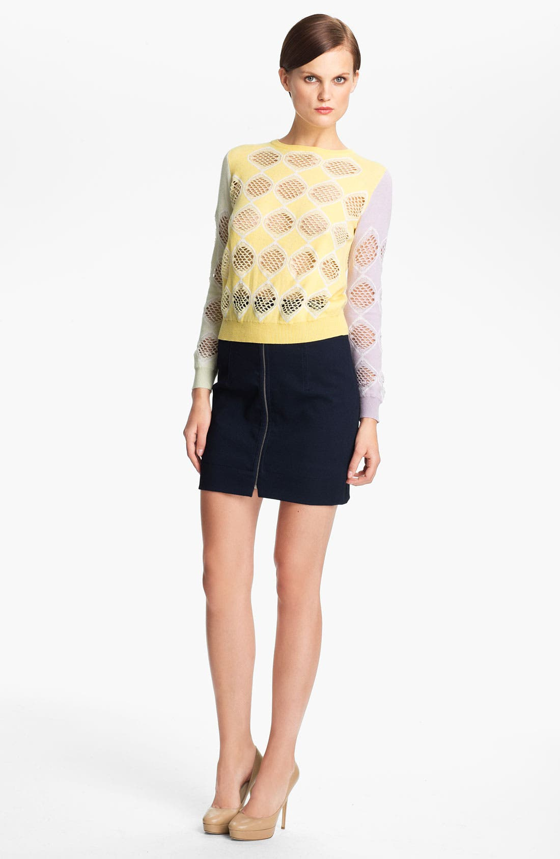 Alternate Image 1 Selected - Carven Jacquard Knit Sweater