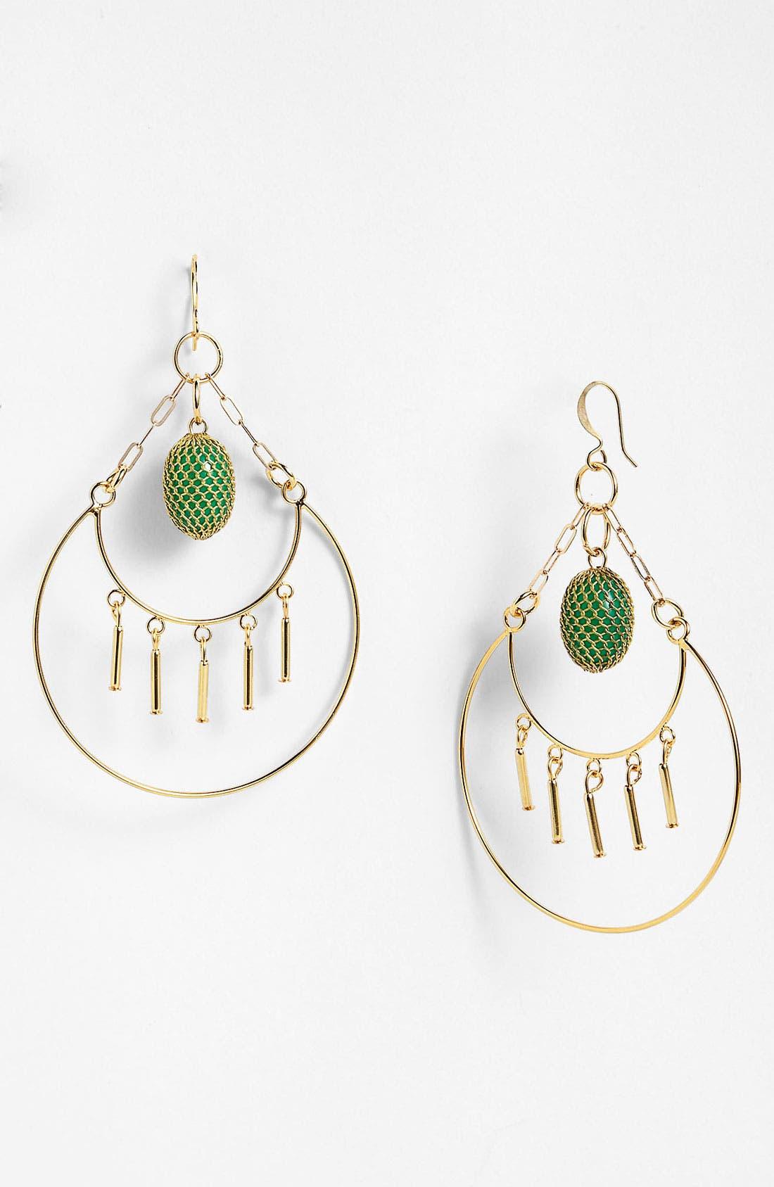 Main Image - Verdier Jewelry 'Green Mesh' Chandelier Earrings (Nordstrom Exclusive)