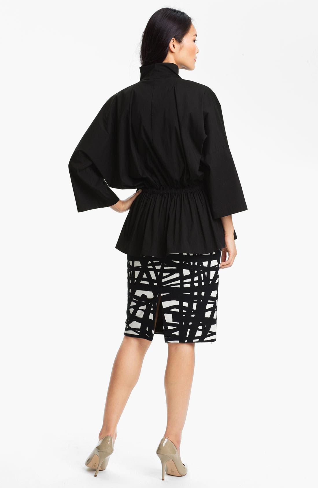 Alternate Image 5  - Lafayette 148 New York 'Profound Stroke' Print Skirt