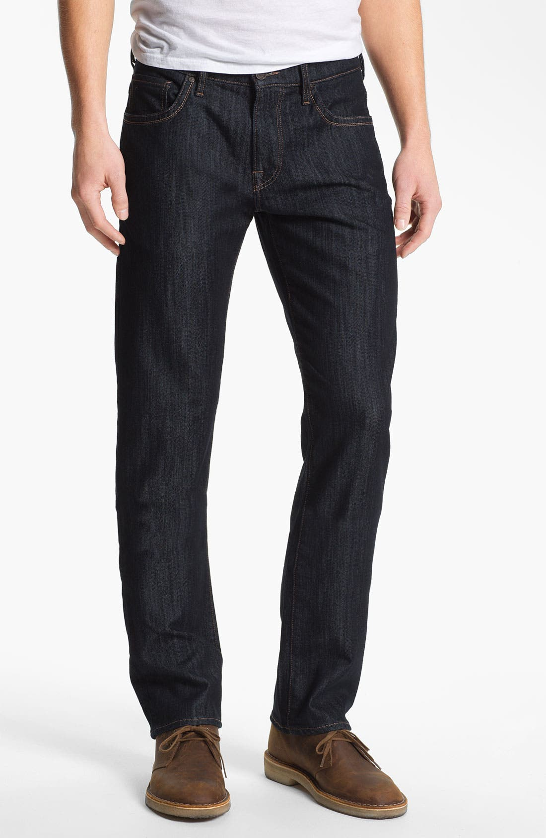 34 Heritage 'Courage' Straight Leg Jeans (Rinse Mercerized) (Online Only)