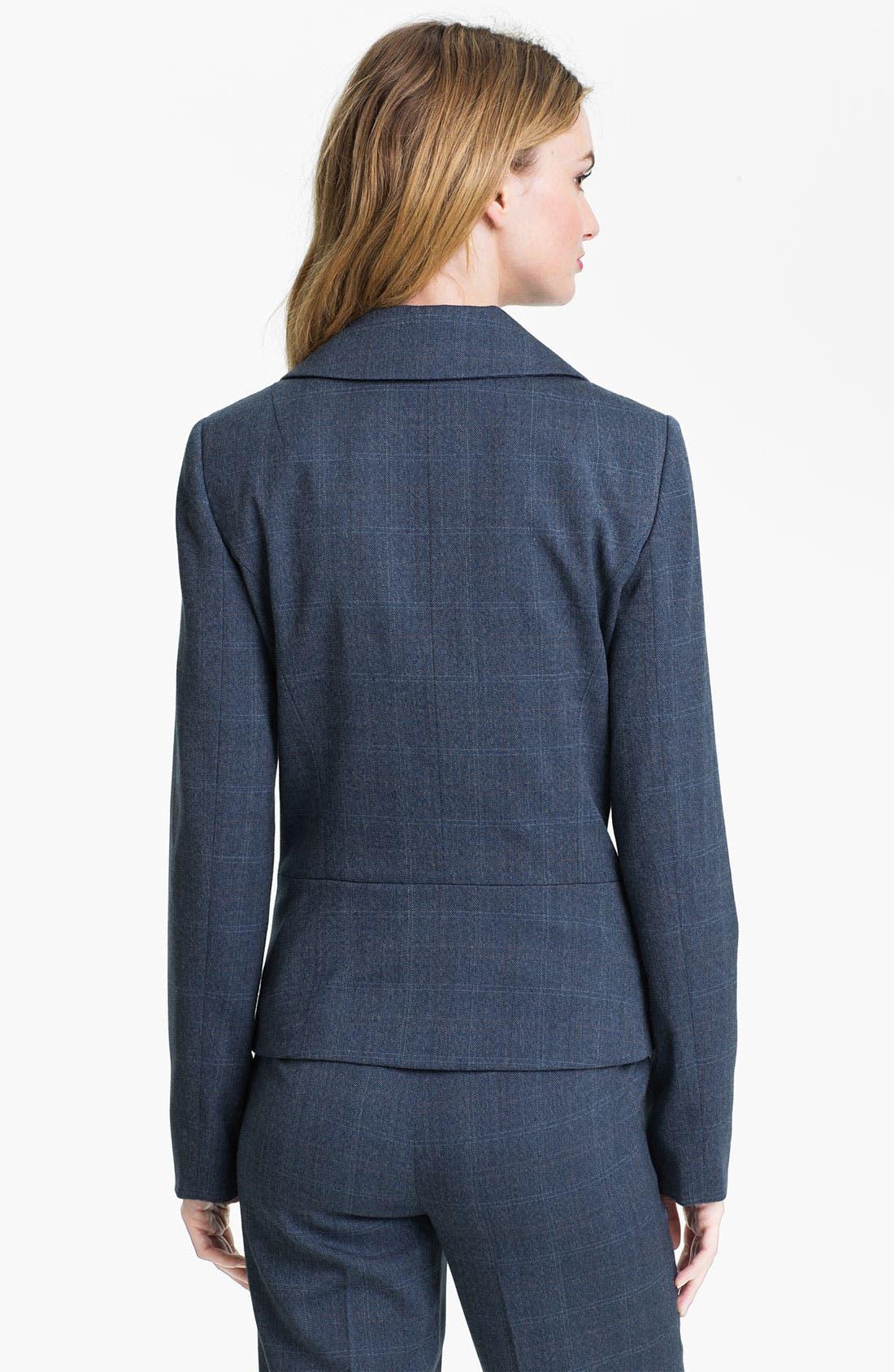 Alternate Image 2  - Anne Klein Patterned Menswear Jacket