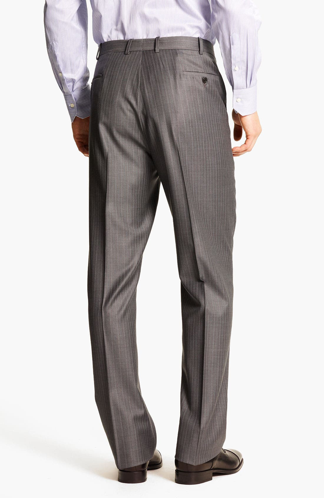 Alternate Image 5  - Peter Millar Stripe Wool Suit