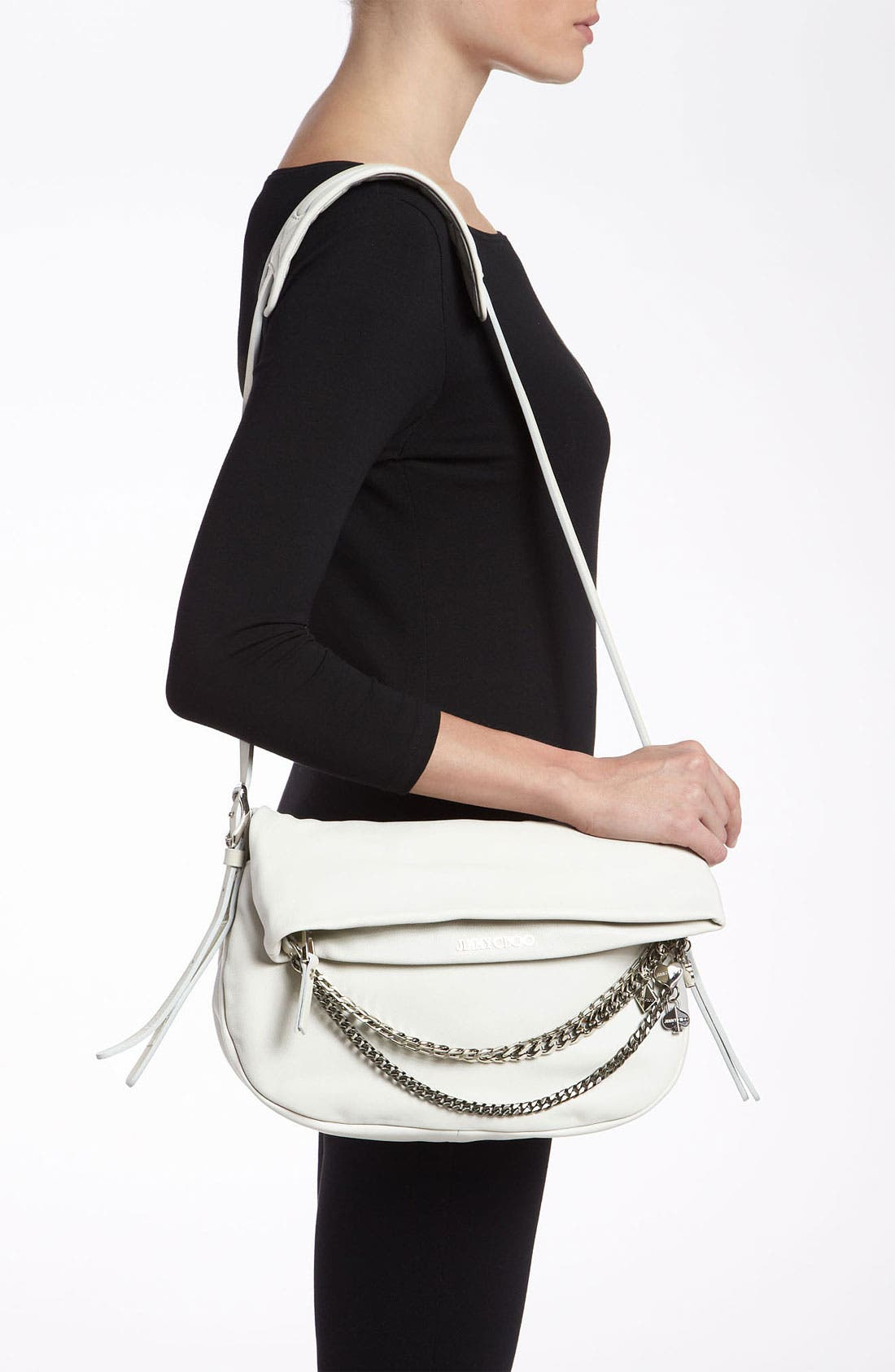 Alternate Image 2  - Jimmy Choo 'Biker - Small' Leather Crossbody Bag