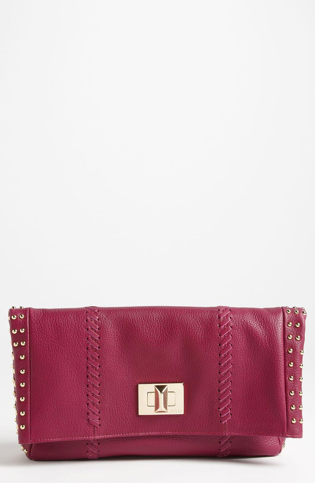 Main Image - Emilio Pucci Leather Fold Over Clutch