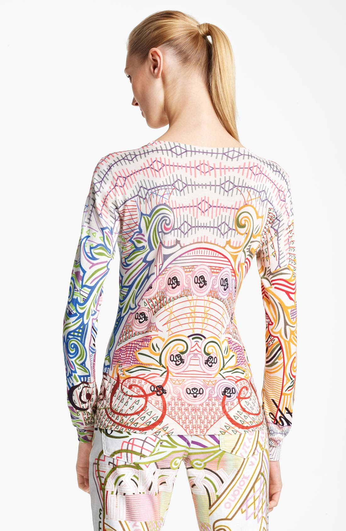 Alternate Image 2  - Mary Katrantzou Print Silk Sweater