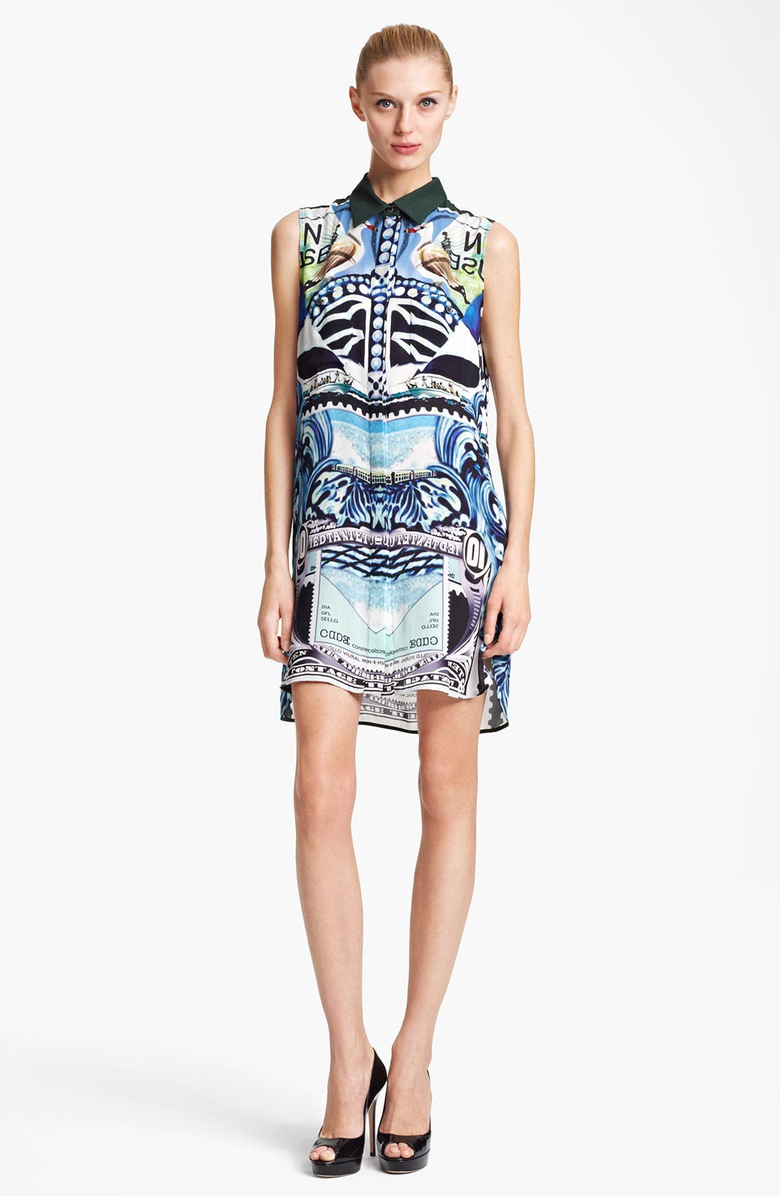 Alternate Image 1 Selected - Mary Katrantzou Double Georgette Shirtdress