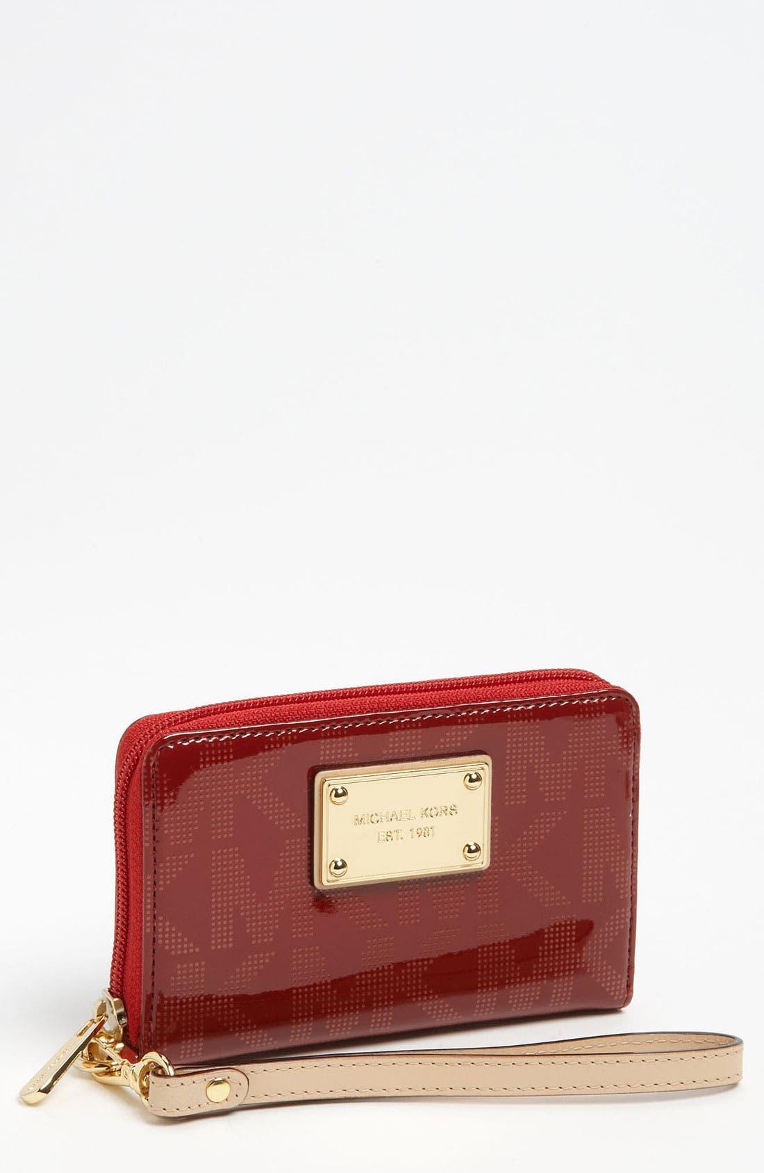 Main Image - MICHAEL Michael Kors 'Signature' Phone Wristlet