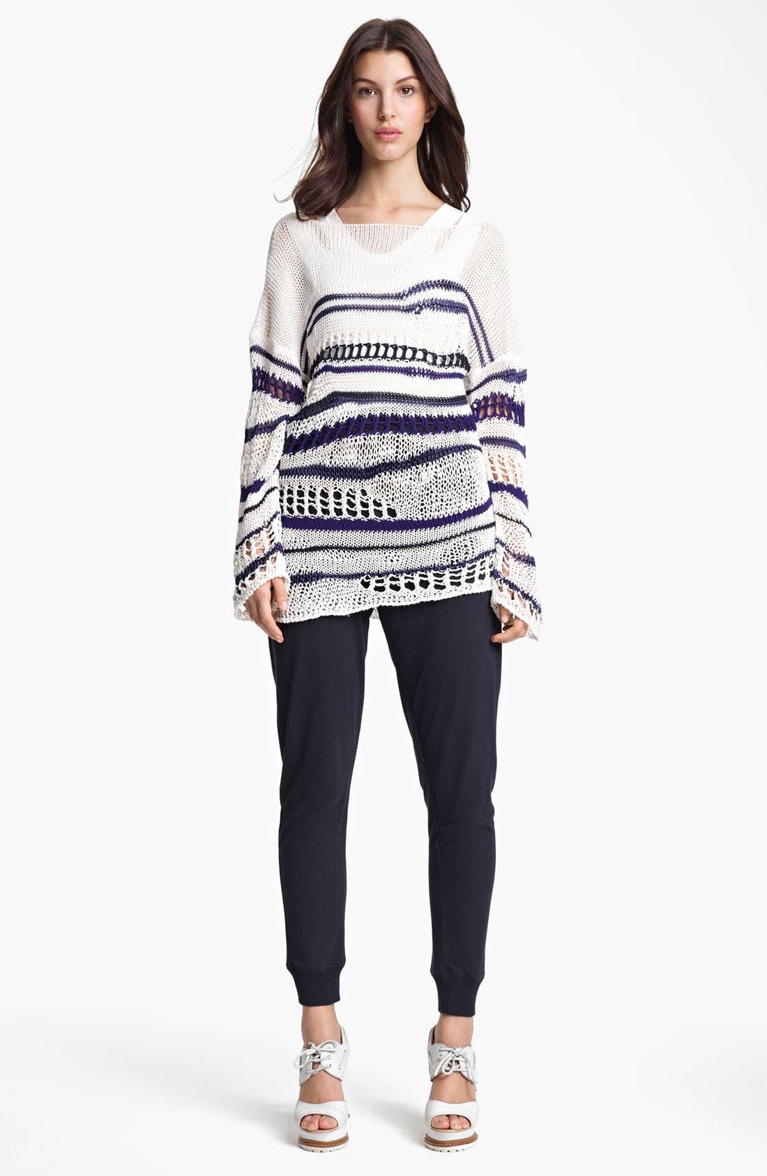 Alternate Image 4  - Jean Paul Gaultier Fuzzi Stripe Open Knit Sweater