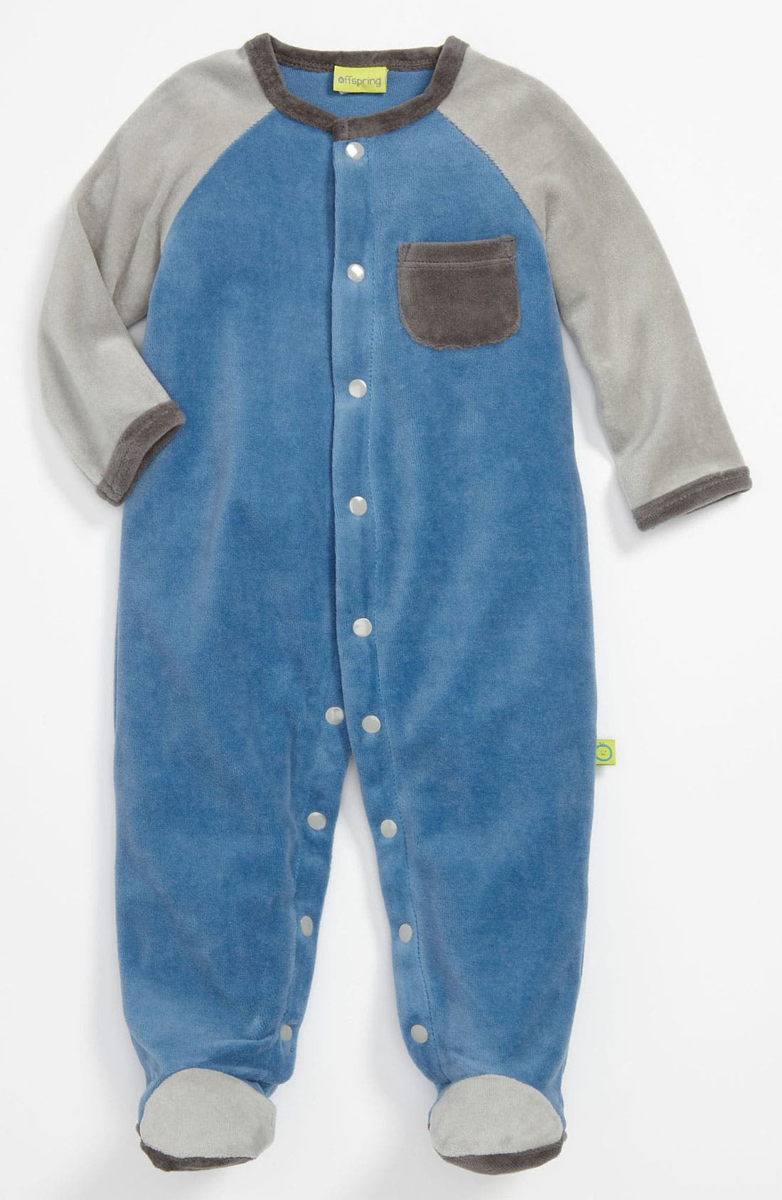 Alternate Image 1 Selected - Offspring Velour Footie (Infant)