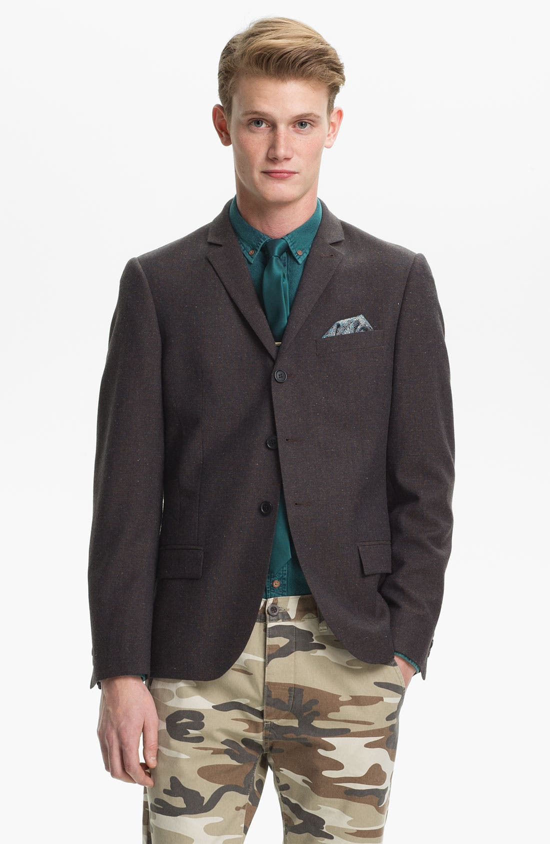 Alternate Image 1 Selected - Topman Skinny Three Button Blazer