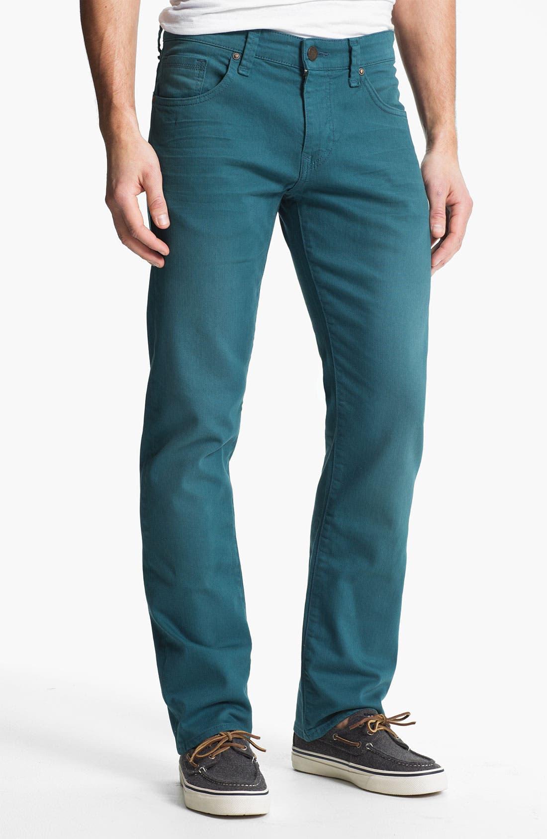 Alternate Image 2  - Mavi Jeans 'Zach' Straight Leg Jeans (Teal)