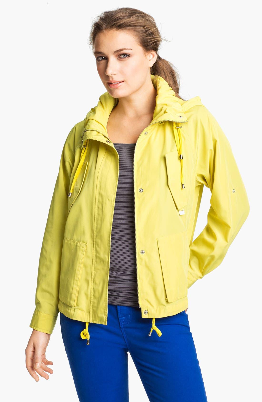 Alternate Image 5  - MICHAEL Michael Kors Hooded Roll Sleeve Jacket (Regular & Petite)
