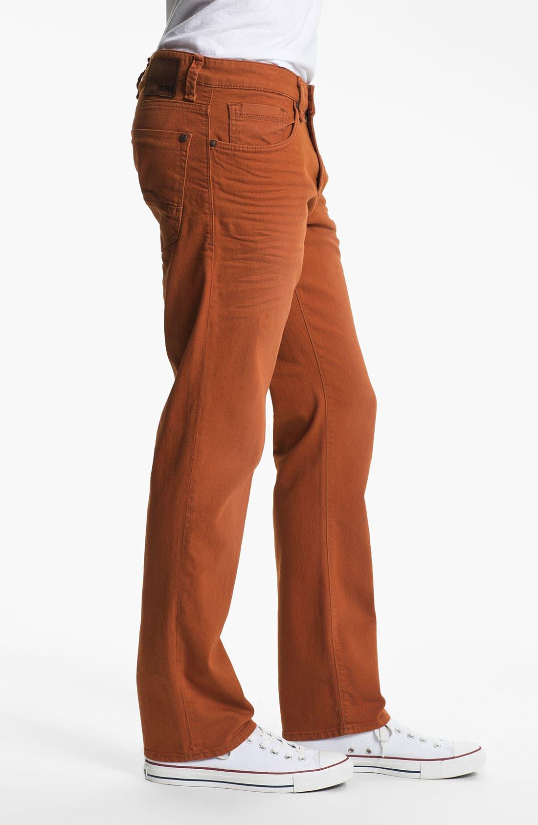 Alternate Image 3  - Mavi Jeans 'Zach' Straight Leg Jeans (Orange)