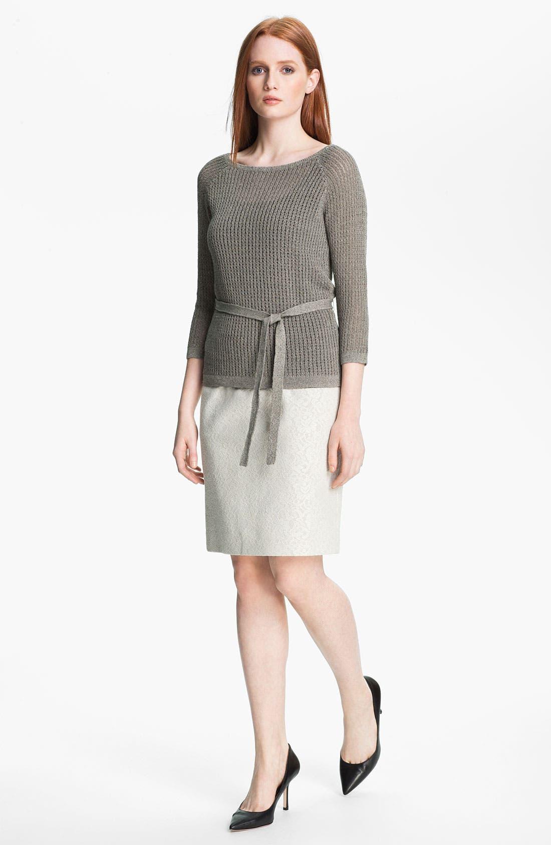 Alternate Image 4  - Classiques Entier® Bonded Lace Pencil Skirt