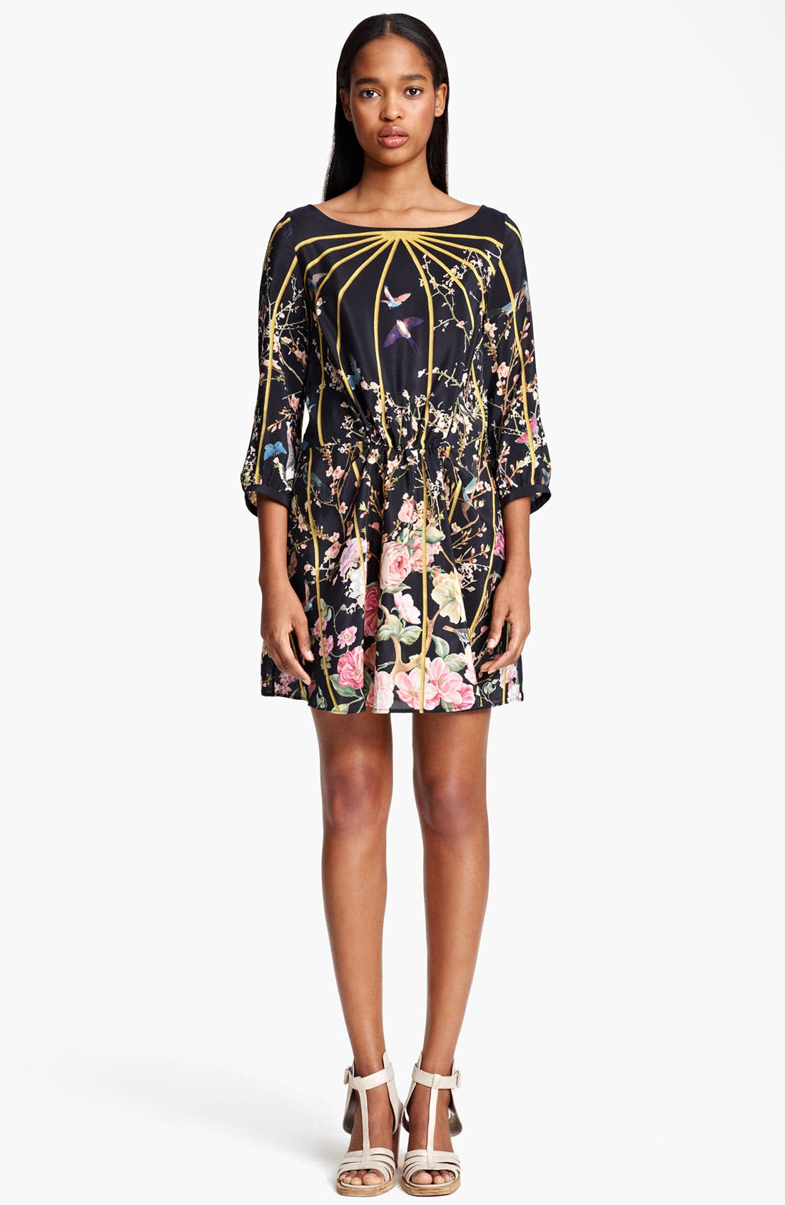 Alternate Image 1 Selected - Thakoon Birdcage Print Silk Dress