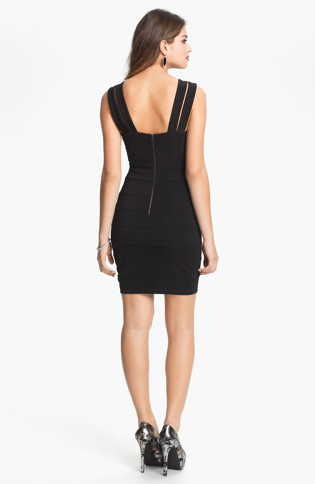 Alternate Image 2  - Way-In Body-Con Bandage Dress (Juniors)