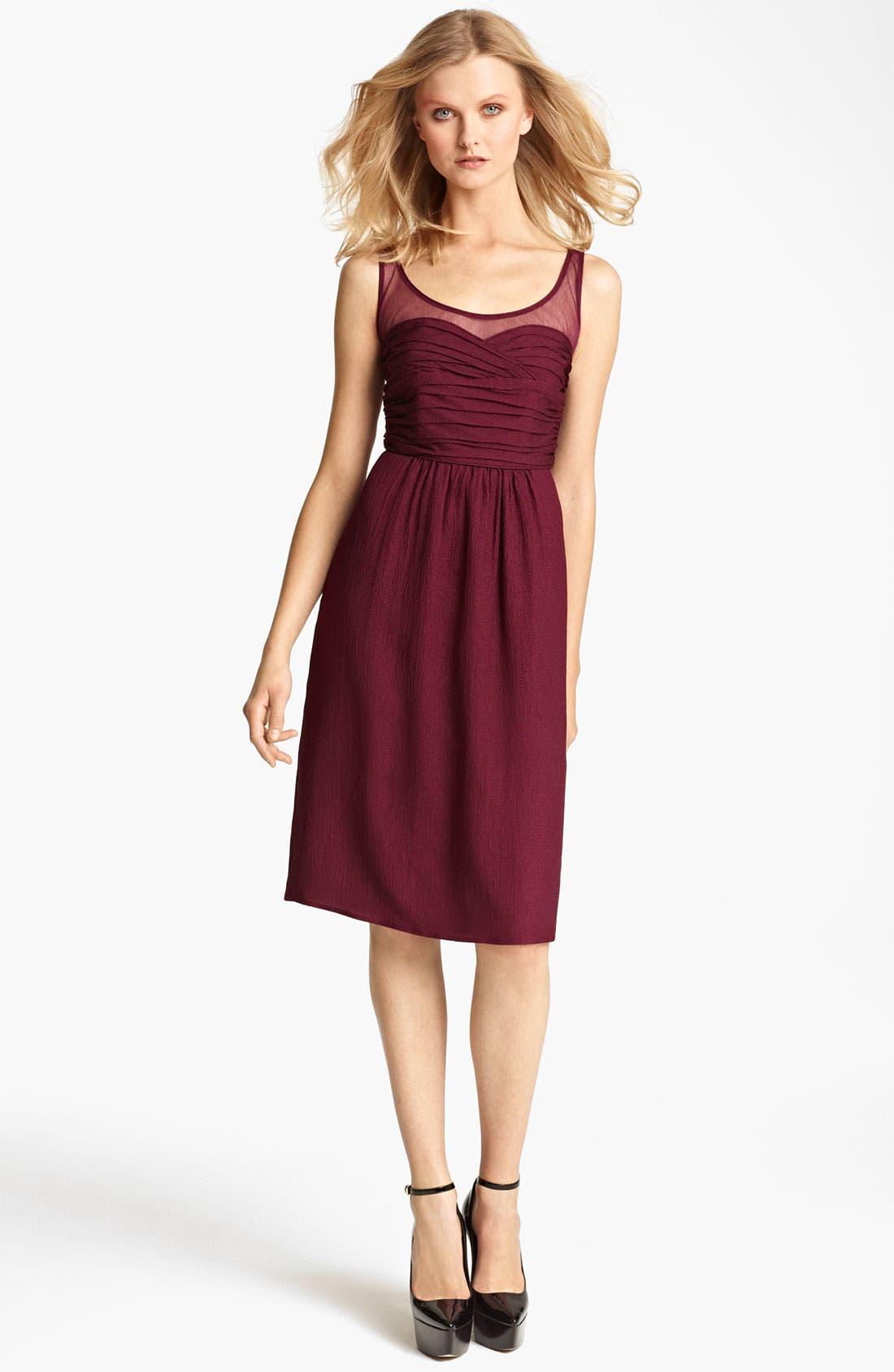 Main Image - Burberry London Sleeveless Crinkle Chiffon Dress
