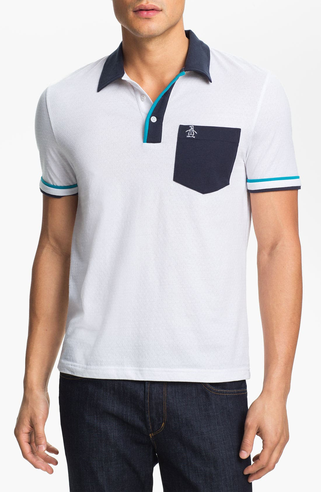 Alternate Image 1 Selected - Original Penguin Perforated Polo