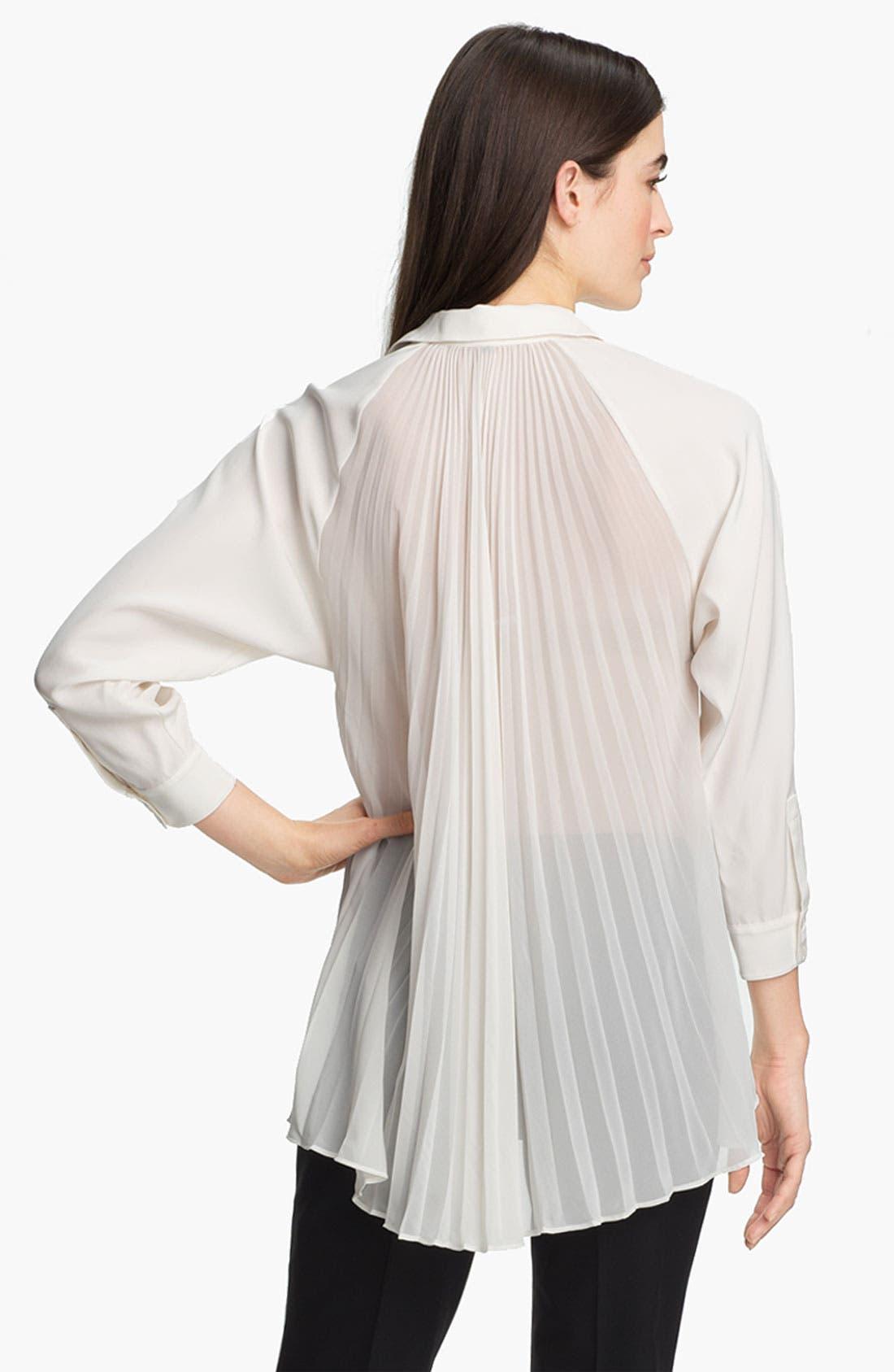 Alternate Image 2  - Lafayette 148 New York 'Dalena' Matte Silk Blouse