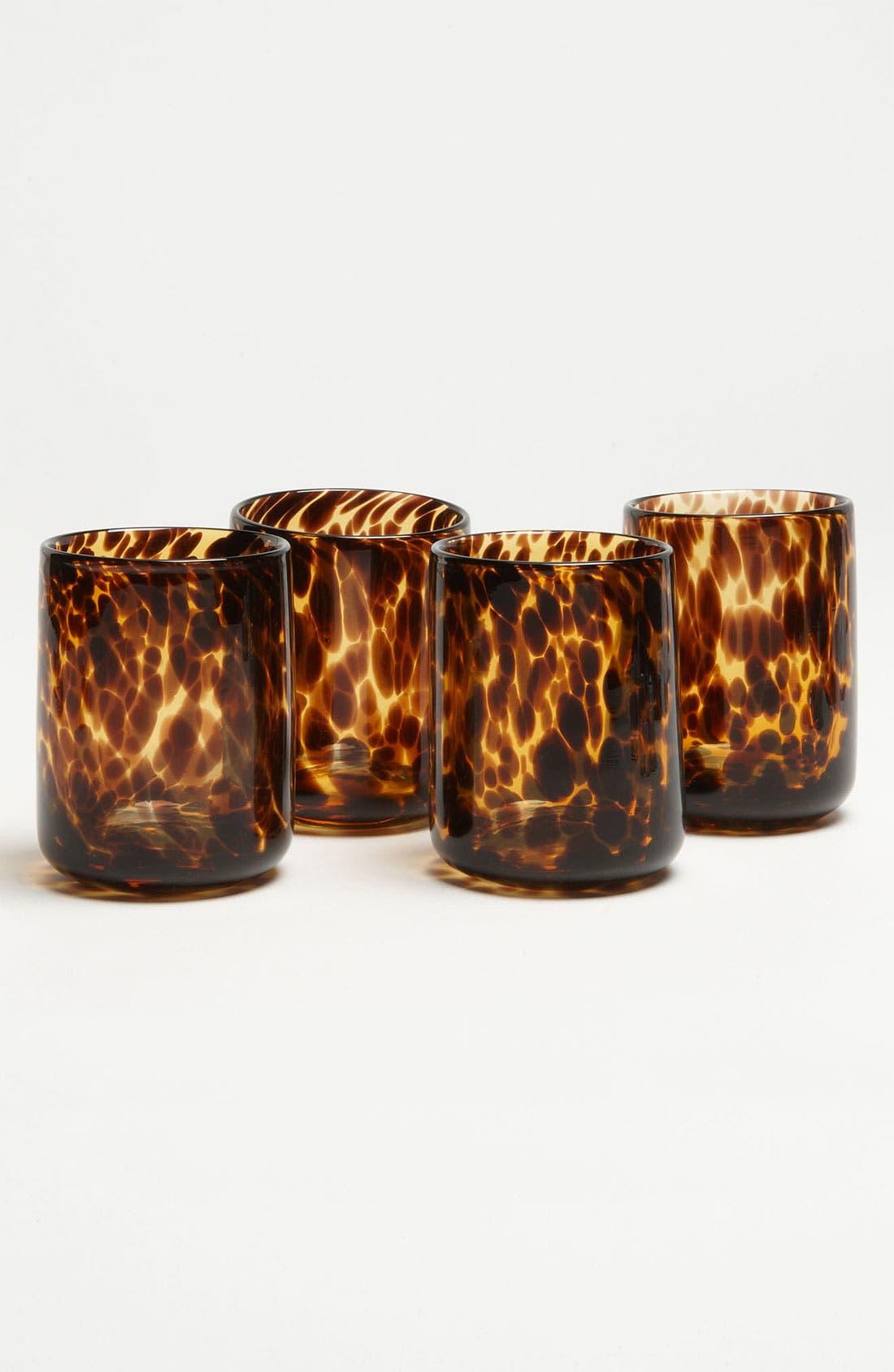 Alternate Image 1 Selected - 'Tortoiseshell Rocks' Glasses (Set of 4)