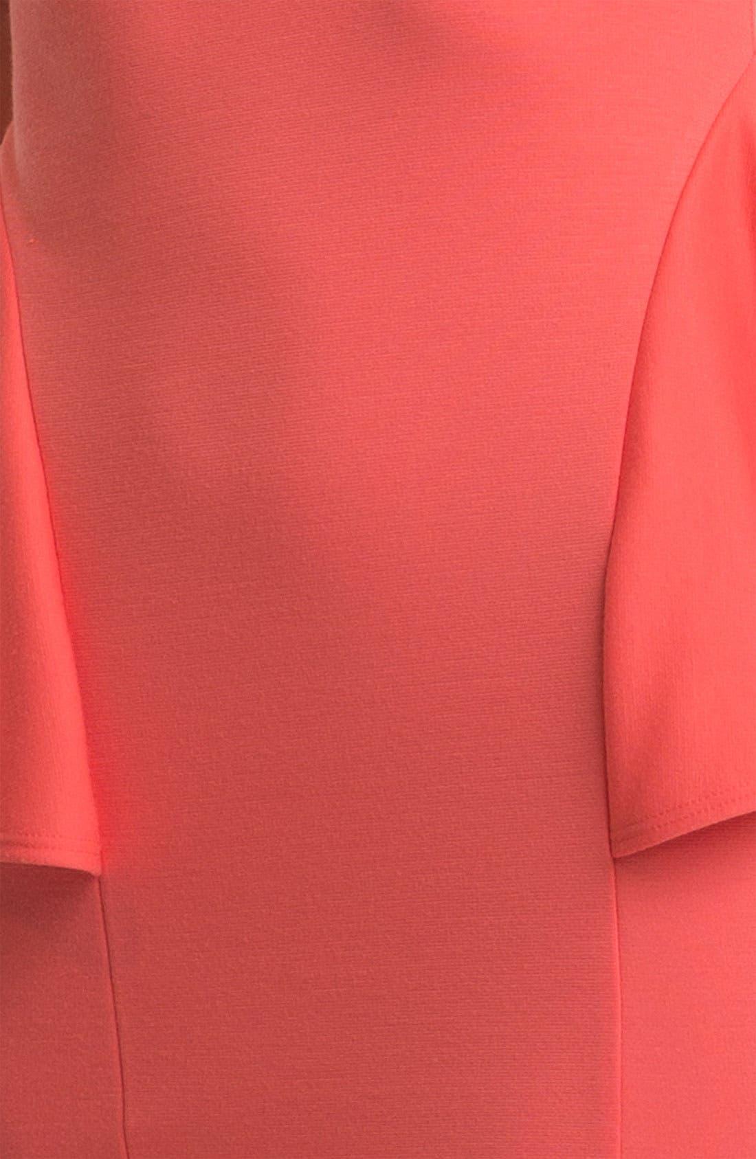 Alternate Image 3  - Soprano Lace Panel Peplum Minidress (Juniors)