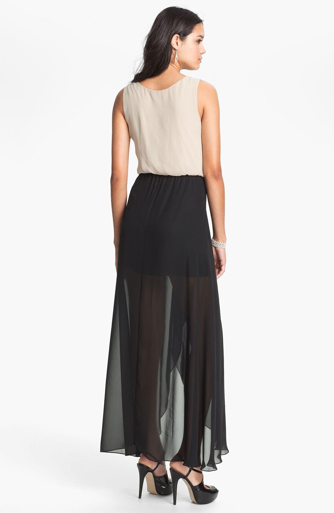 Alternate Image 2  - As U Wish High/Low Maxi Dress (Juniors)