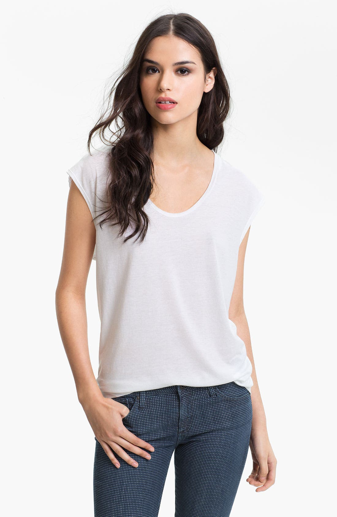 Alternate Image 1 Selected - AG Jeans Scoop Neck Tee