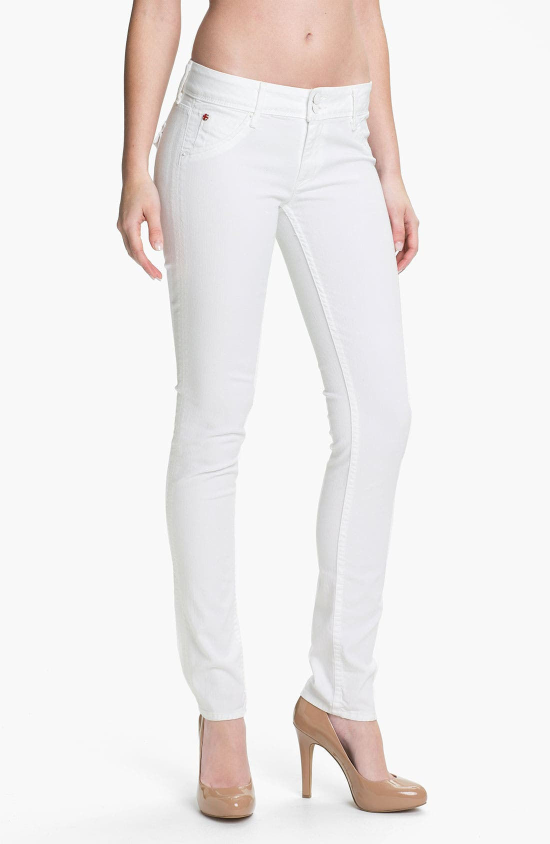 Main Image - Hudson Jeans Skinny Stretch Jeans (New White Wash)