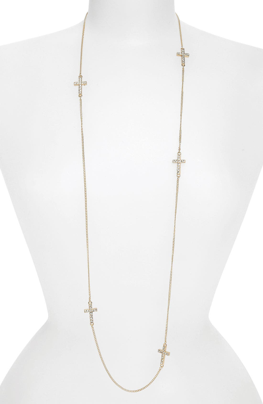 Main Image - BP. Rhinestone Cross Layering Necklace