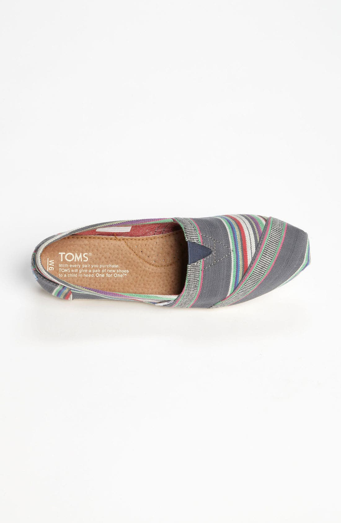 Alternate Image 3  - TOMS 'Classic - Stripe' Slip-On (Women)
