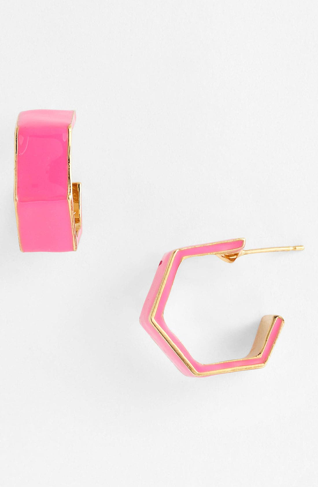 Alternate Image 1 Selected - kate spade new york 'play the angles' hoop earrings