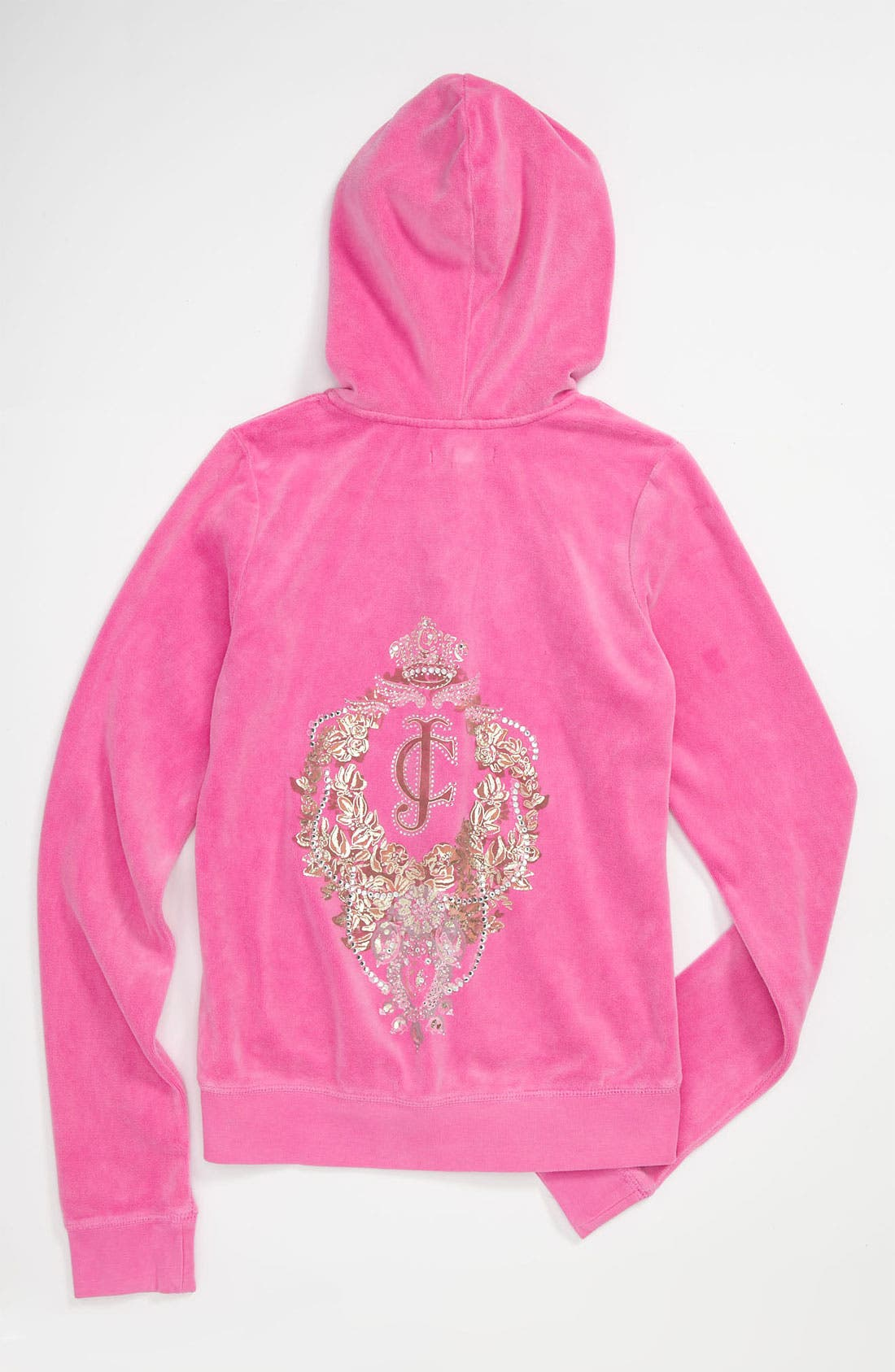Alternate Image 2  - Juicy Couture Velour Hoodie (Little Girls & Big Girls)