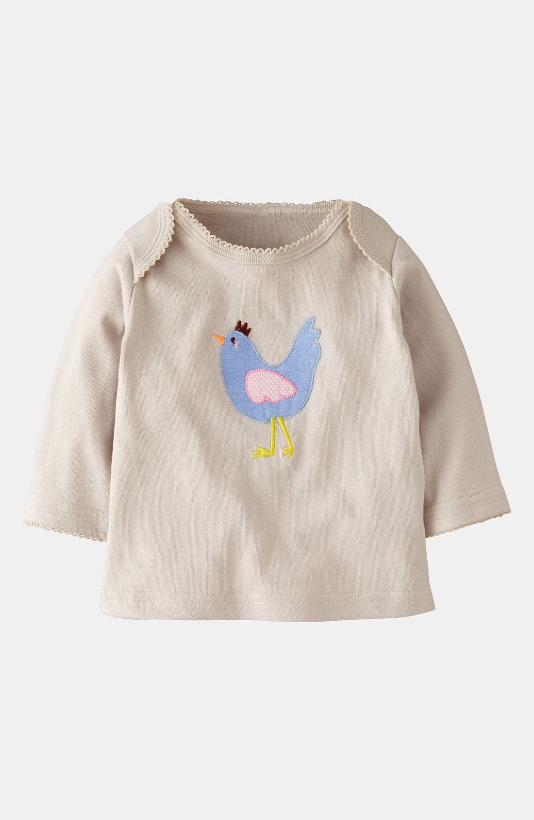 Alternate Image 1 Selected - Mini Boden 'Pretty Appliqué' Tee (Baby)