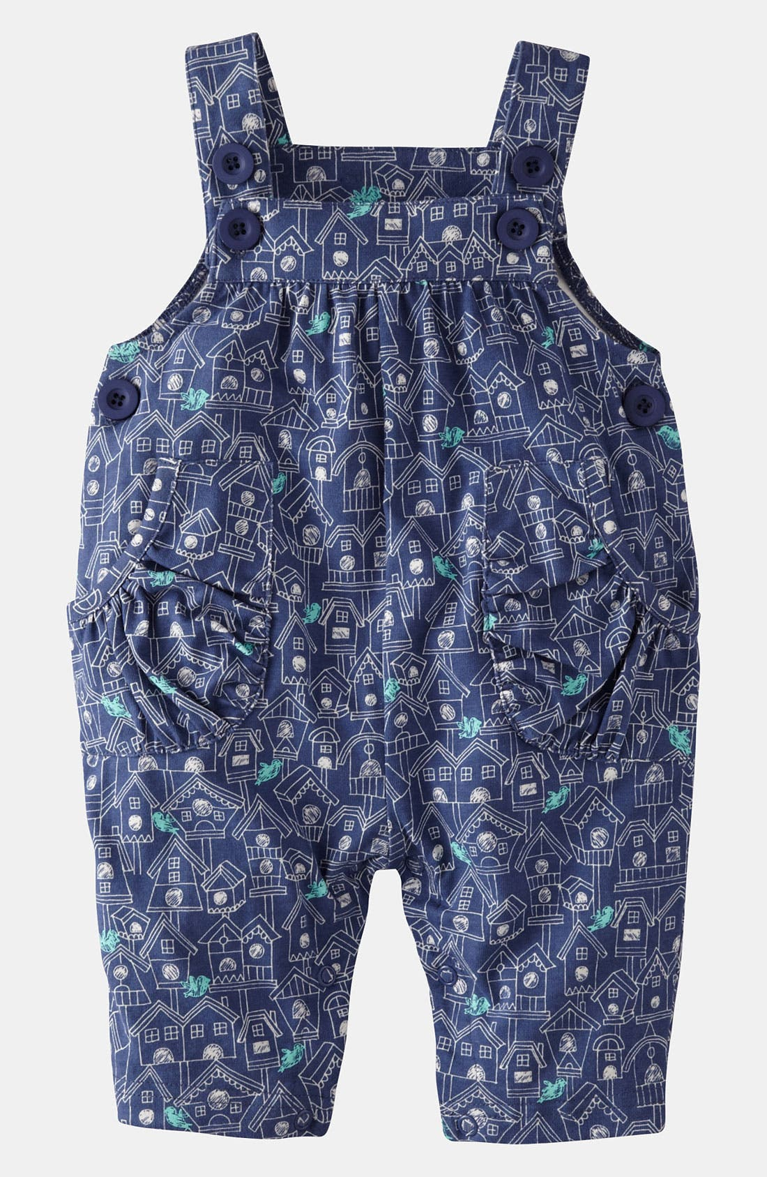 Main Image - Mini Boden Jersey Overalls (Baby)