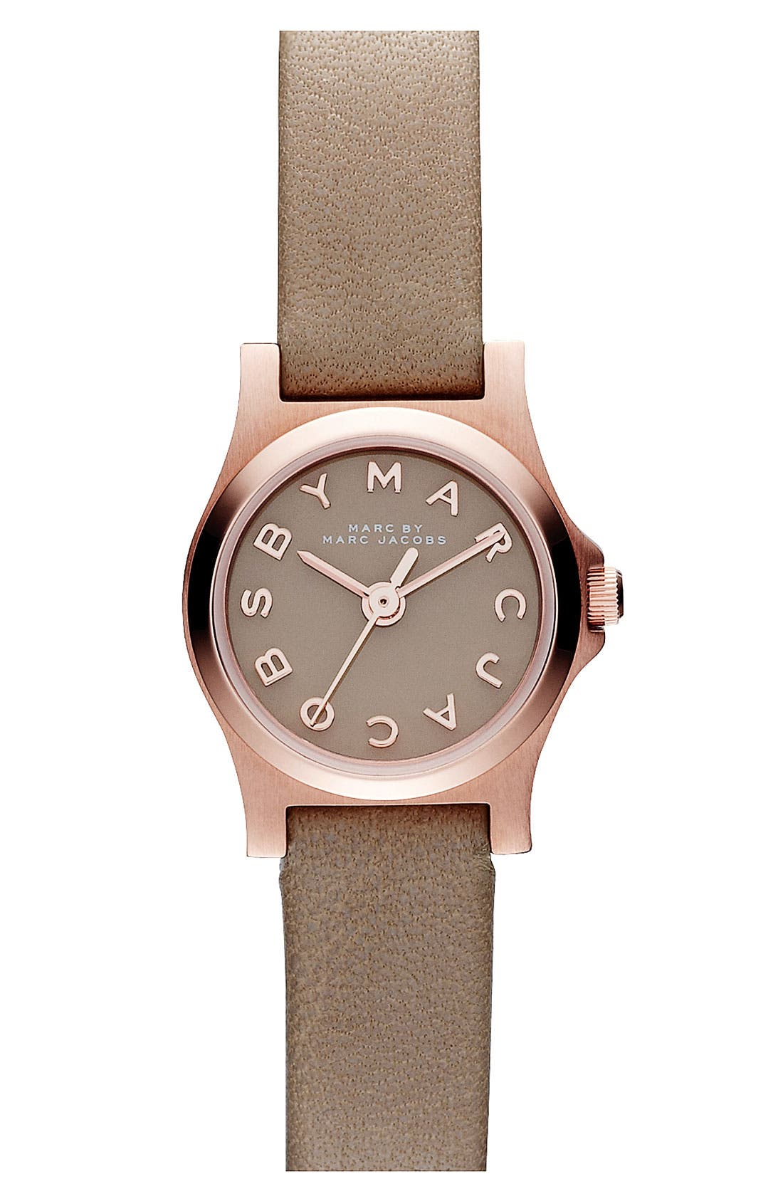 'Henry Dinky' Leather Strap Watch,                             Main thumbnail 1, color,                             Gingersnap/ Rose Gold