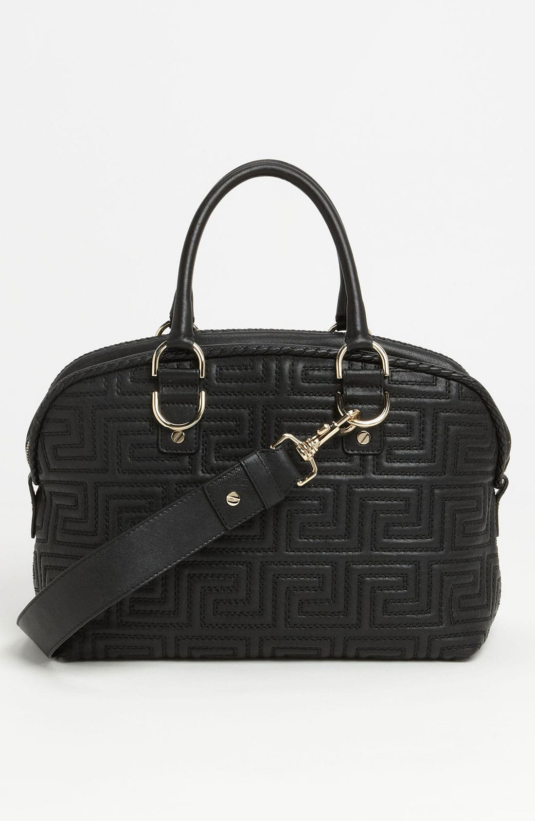 Alternate Image 4  - Versace 'Couture' Leather Bowler