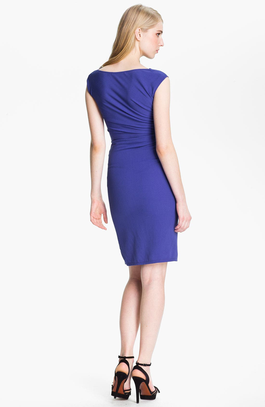 Alternate Image 2  - Halston Heritage Reverse Pleat Crepe Sheath Dress