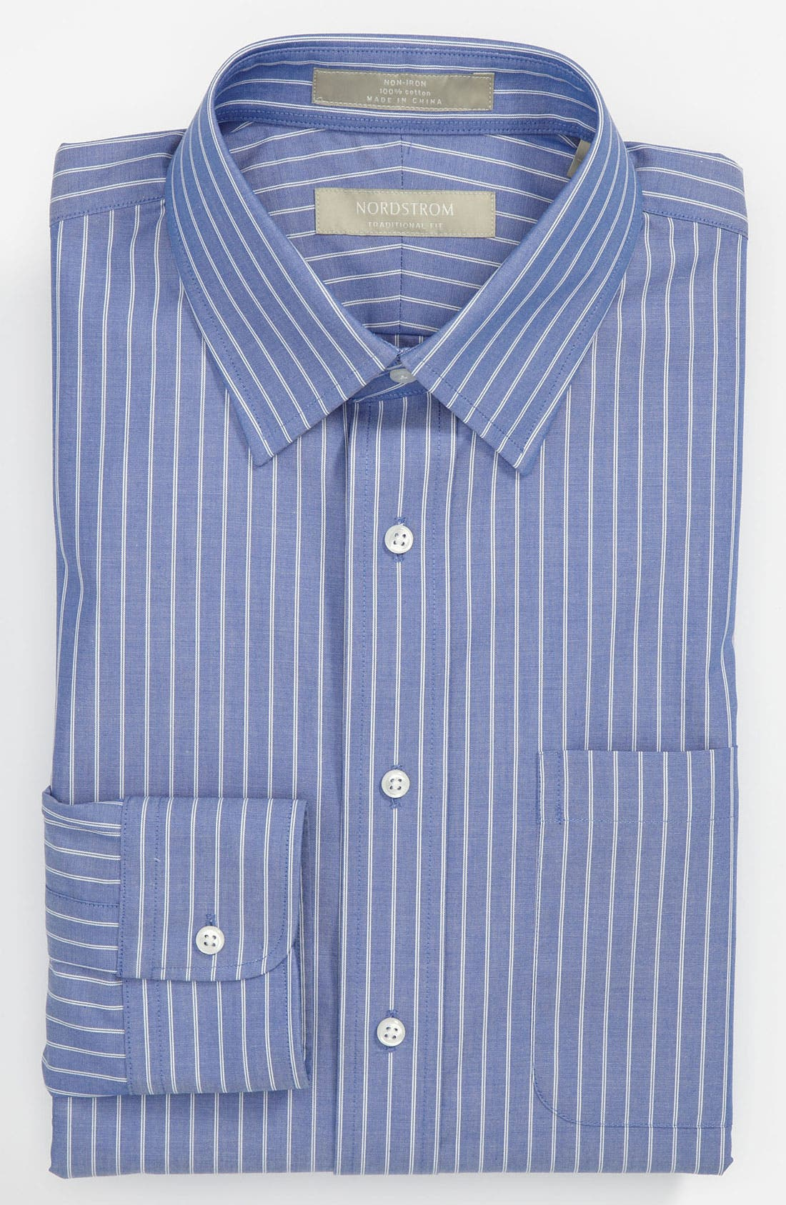 Main Image - Nordstrom Traditional Fit Non-Iron Dress Shirt (Online Only)