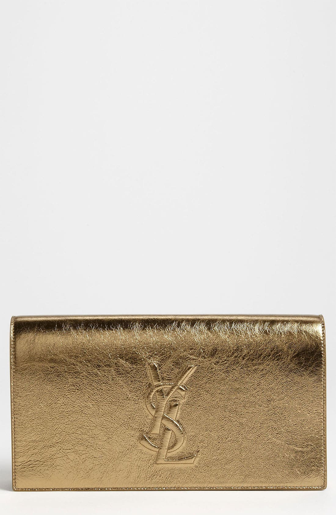 Main Image - Saint Laurent 'Belle de Jour' Metallic Leather Clutch