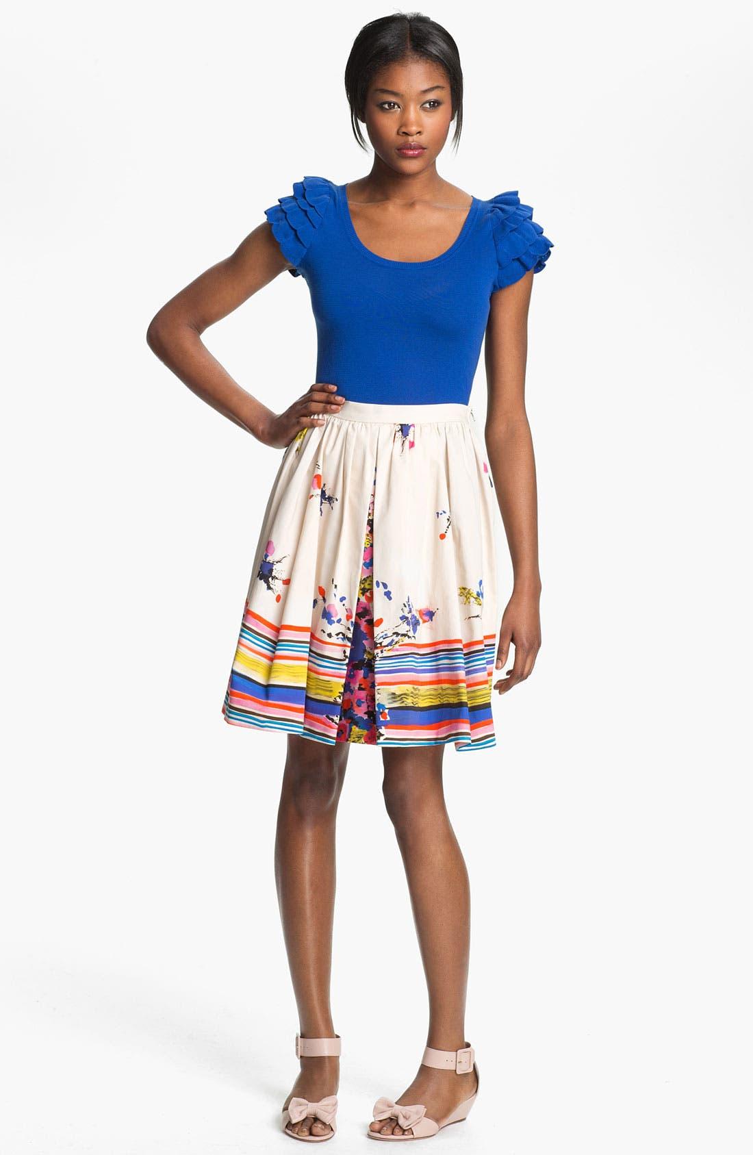 Alternate Image 3  - RED Valentino Bouquet Print Skirt