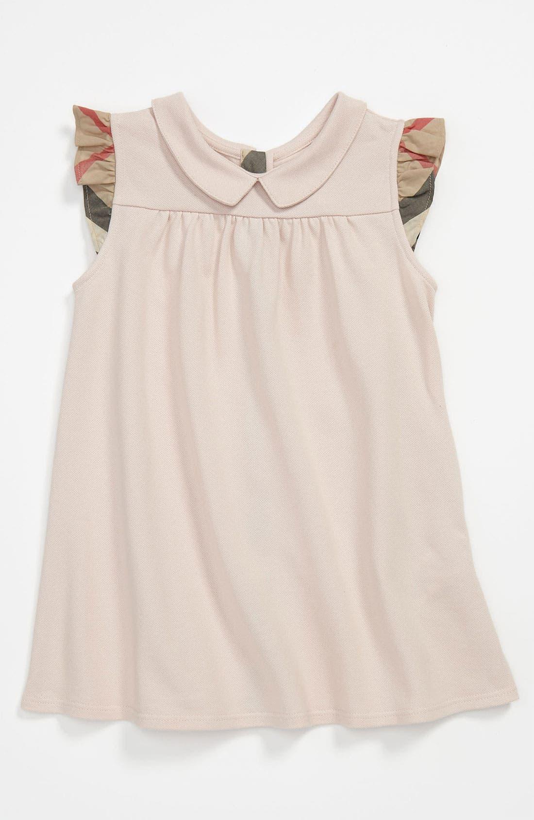 Alternate Image 1 Selected - Burberry 'Perez' Piqué Polo Dress (Infant)