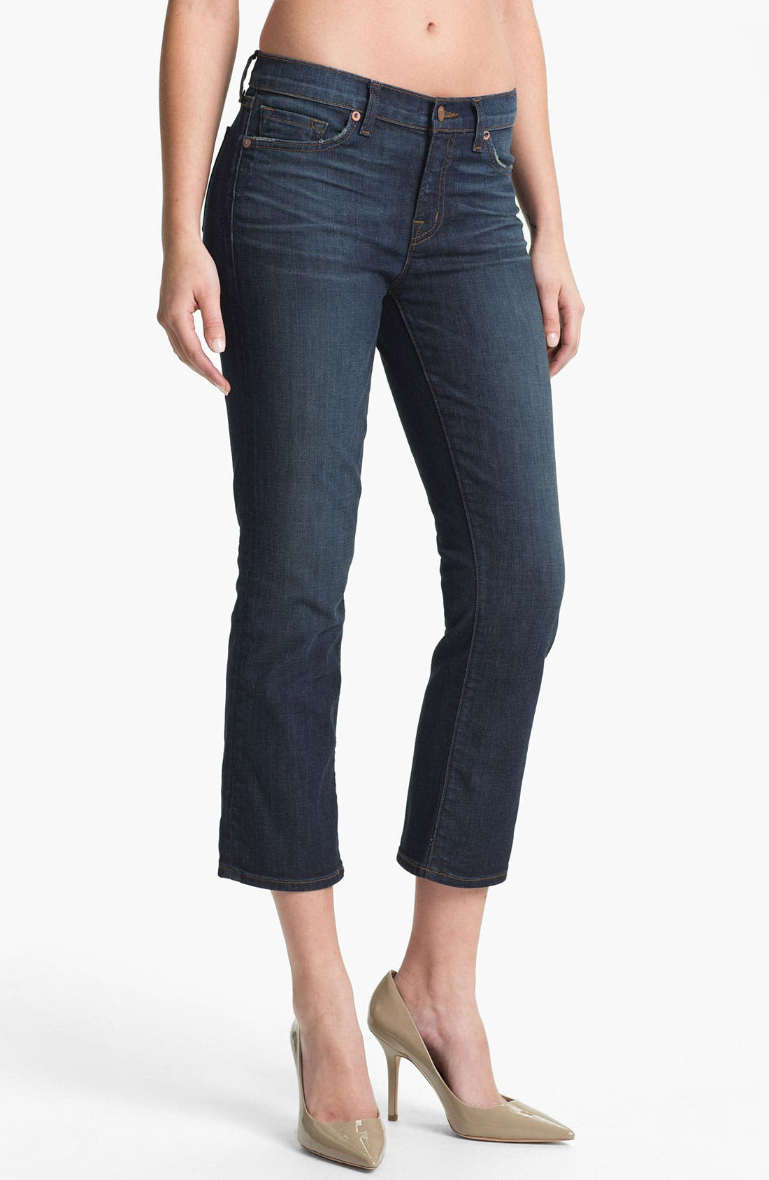 Alternate Image 1 Selected - J Brand 'Sylvie' Crop Flare Leg Jeans (East Wick)