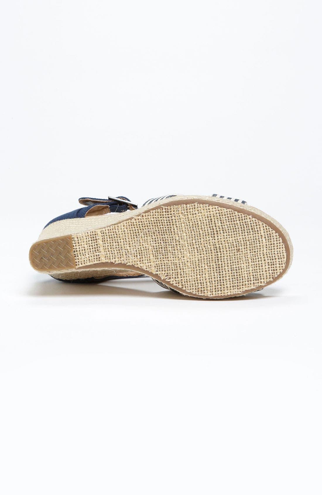 Alternate Image 4  - TOMS 'University Stripe' Sandal