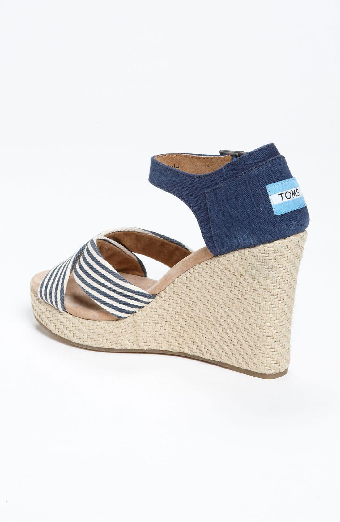 Alternate Image 2  - TOMS 'University Stripe' Sandal